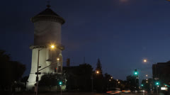 Old Water Tower Timelapse Stock Footage