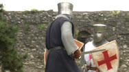 Stock Video Footage of medieval crusader fighting 01