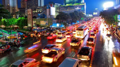Timelapse View of Central Bangkok at Central World., Thailand Stock Footage