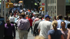 Crowd of commuter business people walking time-lapse Stock Footage