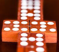 matching domino tiles - stock photo