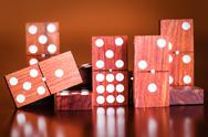 Stock Photo of tiles from a game of dominoes