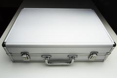 Aluminum Briefcase - stock photo