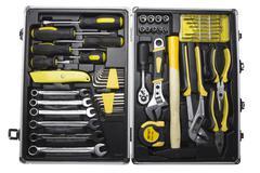 Mechanics toolkit - stock photo