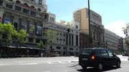 Stock Video Footage of Calle Alcala Madrid Spain 3