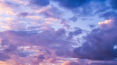 Clouds Time Lapse at sunset Stock Footage