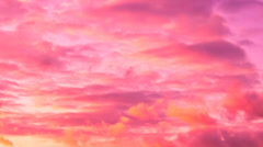 Clouds Time Lapse at sunset - stock footage