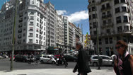 Stock Video Footage of Gran Via Madrid Spain 1