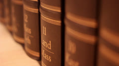 Book with a luxurious leather binding - stock footage