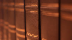 Book with a luxurious leather binding Stock Footage