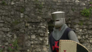 Stock Video Footage of medieval crusader fighting 10