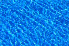 fragment have been added at the bottom of the pool with water - stock photo