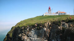 Lighthouse - Cabo da Roca, Portugal Stock Footage