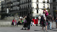 Stock Video Footage of Madrid Spain Puerta Del Sol 2