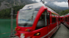 From Tirano to the Switzerland. Stock Footage