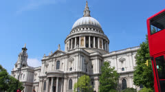 St Paul's Cathedral Stock Footage