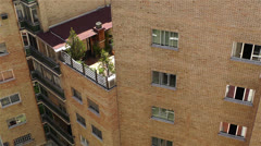 Mediterranean Block of Flats inner courtyard Stock Footage