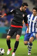 Adrian Lopez of Atletico Madrid - stock photo