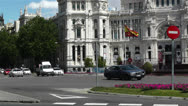 Stock Video Footage of Plaza De Cibeles Madrid Spain Palacio De Comunicaciones 4