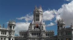 Plaza De Cibeles Madrid Spain Palacio De Comunicaciones 5 Stock Footage