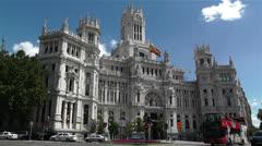 Plaza De Cibeles Madrid Spain Palacio De Comunicaciones 6 Stock Footage