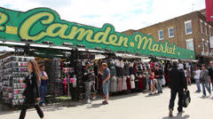 The Camden Market Stock Footage