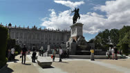 Stock Video Footage of Plaza De Oriente Royal Castle Madrid Spain 1