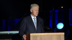 bill clinton Giving a speech  2 - stock footage