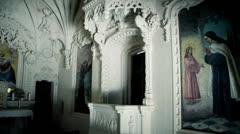 medieval church sintra  - stock footage