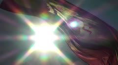 Spanish Flag native slowmotion 3 Stock Footage
