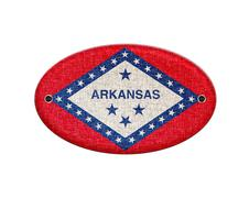 wooden sign of arkansas. - stock photo