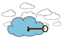 Secure cloud. Stock Photos