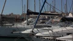 Maltese impressions - shipyard _yachts Stock Footage