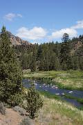 Stock Photo of valley floor of the crooked river