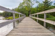 Stock Photo of wooden bridge