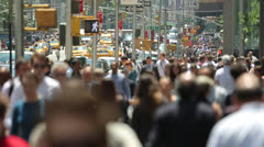 Crowd of commuter business people walking time-lapse 24p Stock Footage