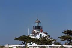 Point pinos lighthouse Stock Photos