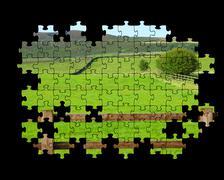 yorkshire dales puzzle - stock illustration