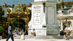 Place Stanislas - Nancy France Stock Footage