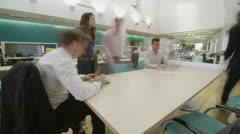 Time lapse of young professional business team brainstorming for ideas - stock footage