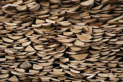 Structure of stacked wood boards. Stock Photos