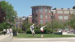 Students, University, College, Campuses, Education Stock Footage