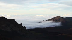 Clouds on Haleakala Crater Maui Pan - stock footage