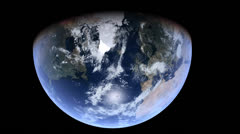 Stationary Orbit Over Northern Hemisphere -  CG Earth 1080p HD - stock footage