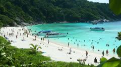 Similan Island beach Stock Footage