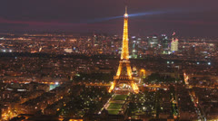 Paris - Eiffel Tower -Sunset 11. Beautiful scene. Magical Light 4 - stock footage