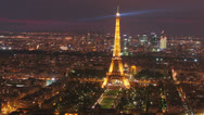 Stock Video Footage of 2013 Paris - Eiffel Tower -Night View 4