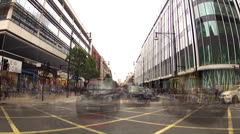 London traffic timelapse on rush hour Stock Footage
