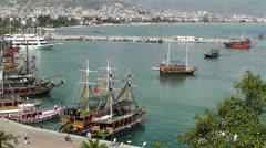 Stock Video Footage of Alanya Turkey 71 port