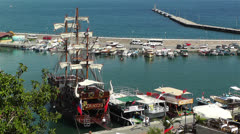Stock Video Footage of Alanya Turkey 73 port